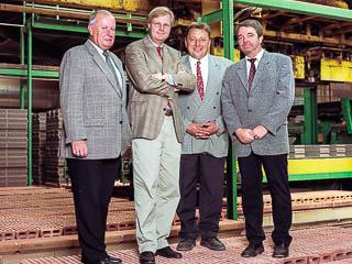 Geschäftsführer Wolfgang Jung und Joachim Thater, Prokuristen Dieter Figge und Georg Volkmer