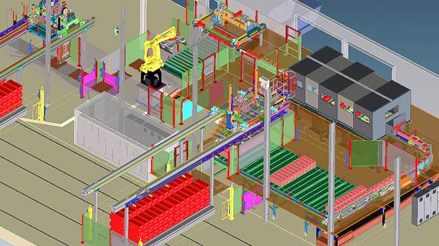 3D-Darstellung: Übersichtsplan der neuen Tunnelofenwagenentladung
