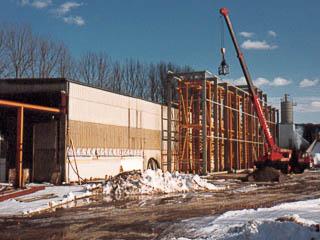 Umbau der ZMB Halle im Winter 1990/1991