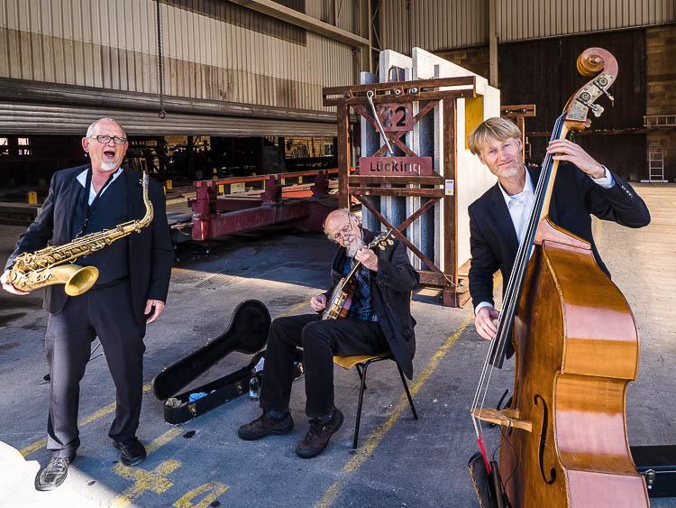 Dixieland Live-Band sorgt für Kurzweil.